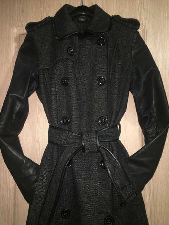 Осеннее пальто теплое La Redoute (S-M)