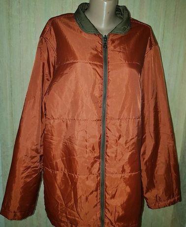 Отличная двухсторонняя куртка курточка пог 67см.