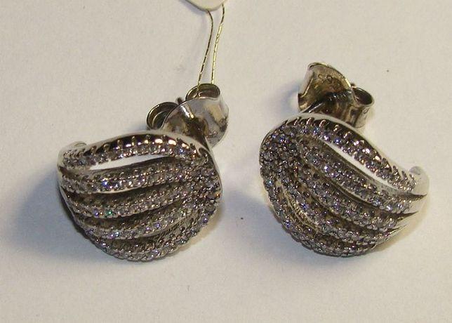 TANIO ! kolczyki srebro rodowane próby 925 -Firma Szafir- wzór S76