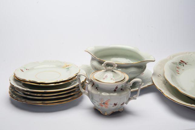 Zestaw porcelany Wałbrzych PRL vintage retro