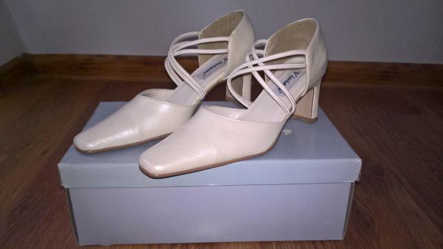 buty ślubne perłowe, r.36, tęgość F