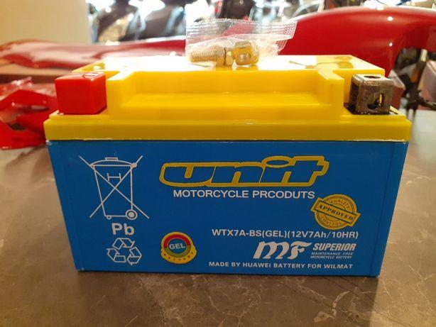 Akumulator WTX7A-BS ( YTX7A-BS ) GEL UNIT 7ah 7ah 12v żelowy Skuter