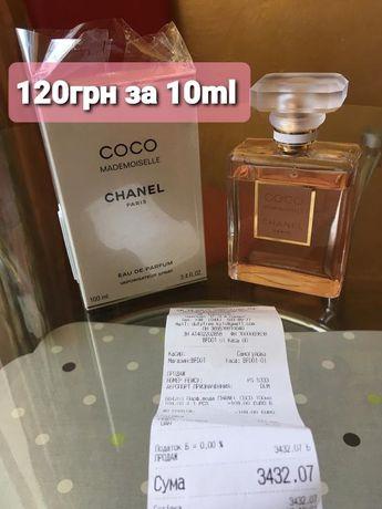 Разлив духи женские Chanel Coco Mademoiselle распив по 10ml