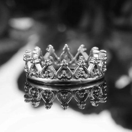 Каблучка корона кольцо біжутерія бижутерия