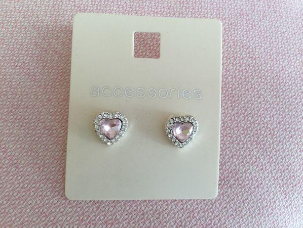 Nowe kolczyki różowo-srebrne