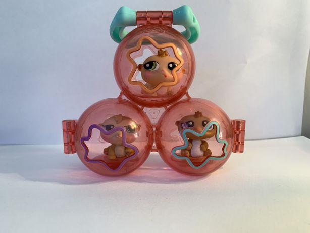 LPS Littlest Pet Shop - figurki chomiki z kulami