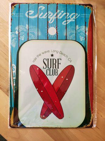 Placa de metal SURF vintage