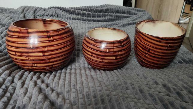 Ceramiczne osłonki na doniczki