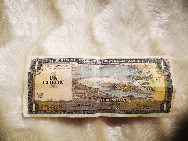 Un Colon банка Сан Сальвадор