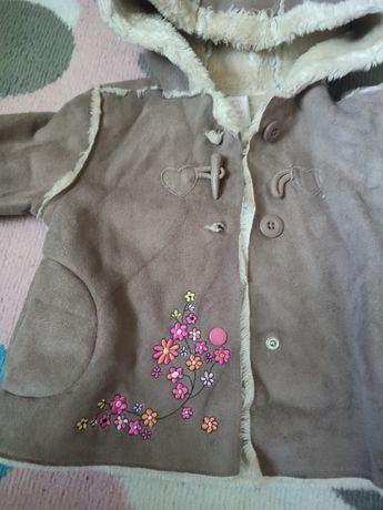 Kożuszek dla dziewczynki r.86
