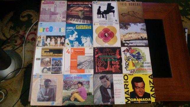 Magnifico Conjunto de 7 Discos de Vinil Portugueses
