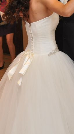 PILNE Suknia sukienka ślubna ecru rozm. S/M wzrost 164