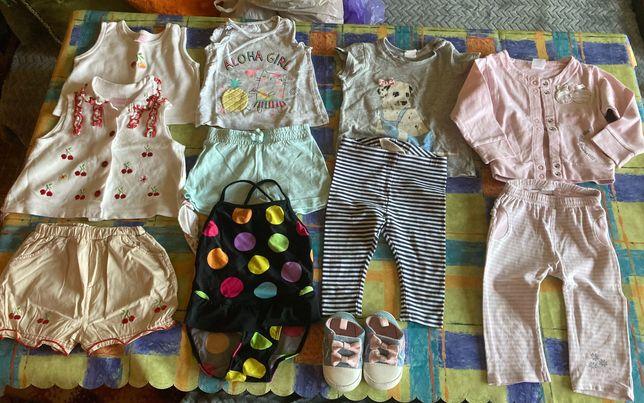 Ubranka dla dziewczynki r.74