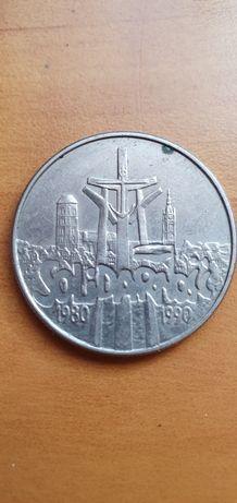 Moneta 10000zł Srebro Solidarność 1990r