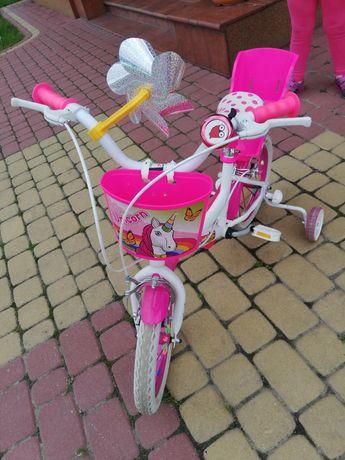 Rowerek 14' fotelik dla lalki