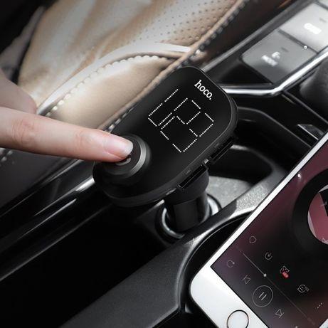 Bluetooth FM-трансмиттер Hoco E45/USB Авто/зарядное устройство. 1250р