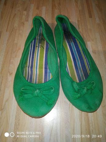 Макасины тапочки. Зелёные. Размер 38