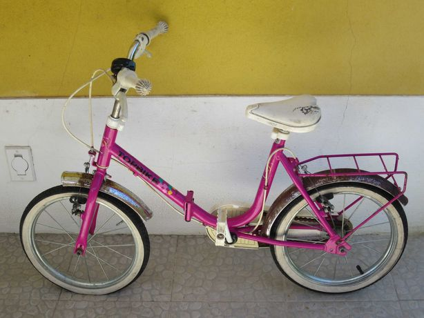 Bicicleta dobrável menina Topbike roda 16 criança