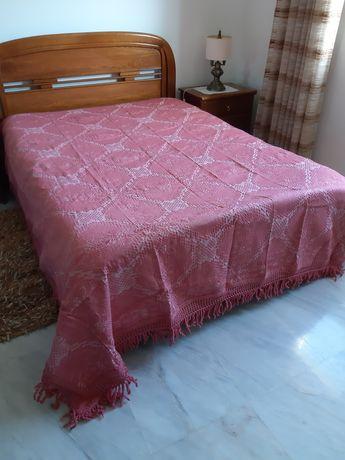 Colcha vintage cor de rosa