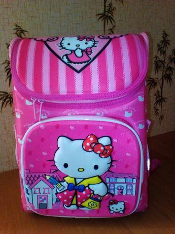 Рюкзак школьный ортопедический, твердый каркас, 3D Hello Kitty