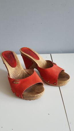 Klapki buty na koturnie 36 LASOCKI