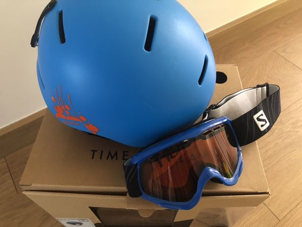 Kask narciarski Salomon + gogle KID S 49-53 cm Player Combo