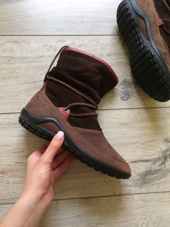 Утепленные сапоги ecco, кожаные, ботинки оригинал