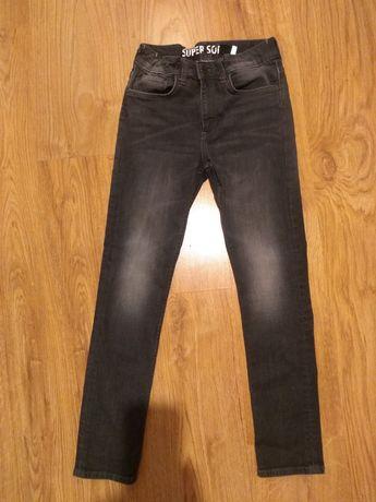 Spodnie H&M super soft czarne wycierane 152