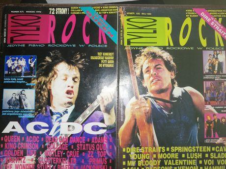 Tylko Rock, miesięcznik, 1992 rok, stare gazety.