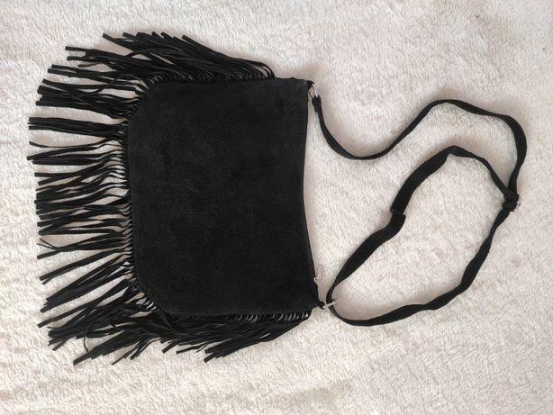Сумка с бахромой Genuine leather Натуральная замша Италия