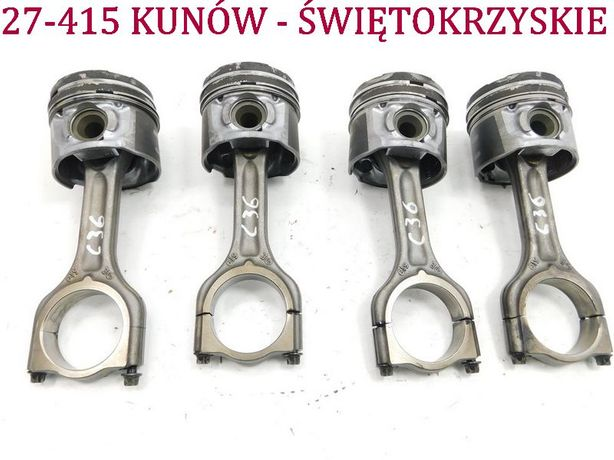 4x tłok + korbowód 619 Peugeot 307 407 Partner Berlingo 1.6 HDI C5 II