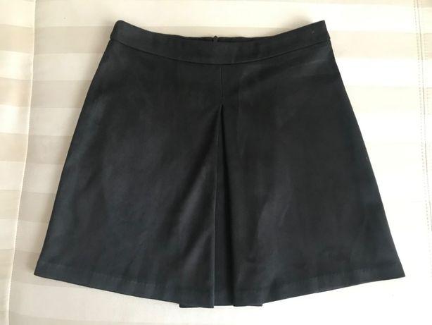 Spódniczka Mohito 36/S zamszowa czarna mini spódnica