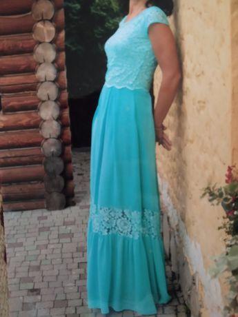 Плаття бірюзове сукня голуба платтячко вечврнє