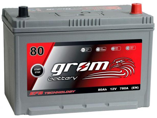 Akumulator Grom Efb Start&stop 80Ah/780A J P+