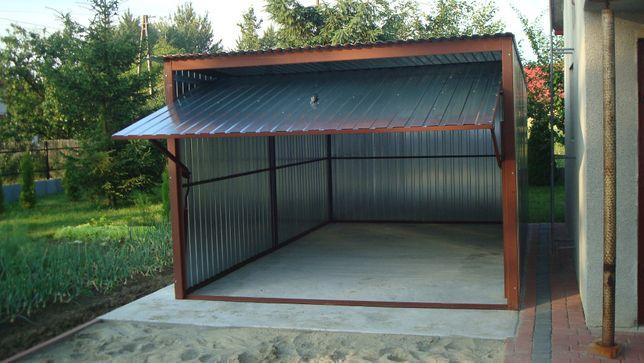 Garaż blaszany garaże blaszane 3x5 z bramą uchylną do góry producent