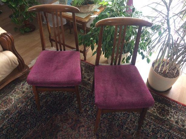 Krzesła PRL Zieliński krzesło vintage 200/100B drewniane patyczaki