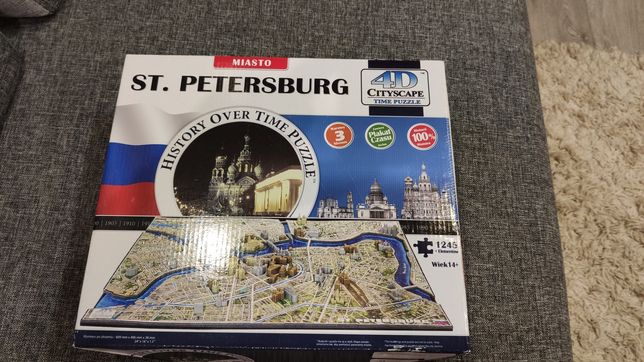 Puzzle 4d ST. PETERSBURG 3 warstwy puzzli