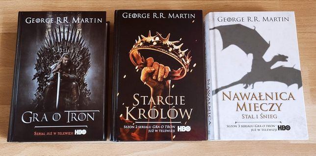 George R.R. Martin - Gra o Tron, Starcie Królów, Nawałnica Mieczy