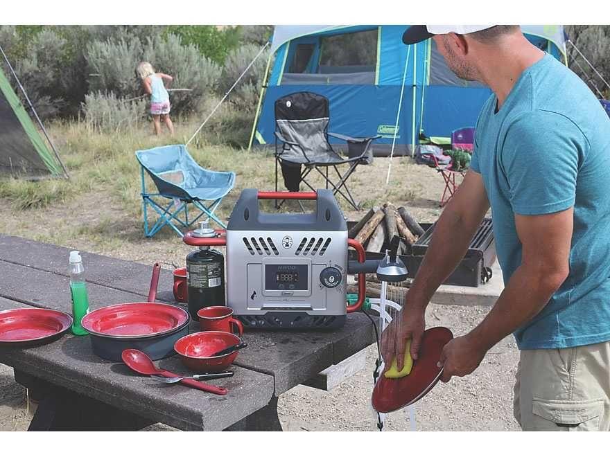 Podgrzewacz gazowy wody prysznic kamping kamper przyczepa 4x4 namiot