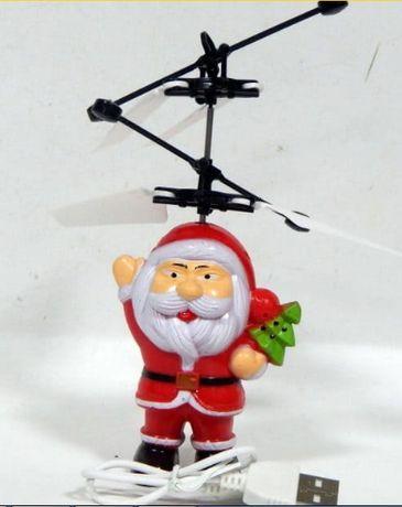 Игрушка Летающий Санта индукционная