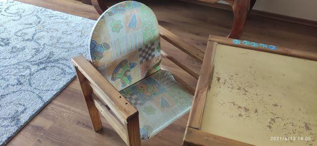 Krzesełko dziecięce ze stolikiem