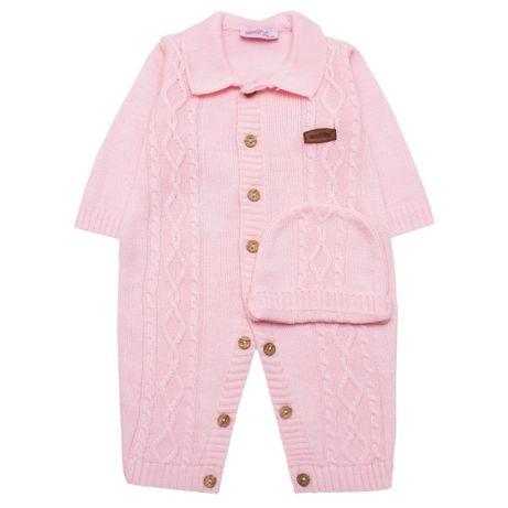 Комплект для девочки, ясельный вязаний комплект, теплый комплект