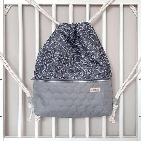 Workoplecak worek plecak pikowany unisex odblaski