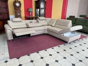 Новый кожаный диван релакс Германия шкіряний диван