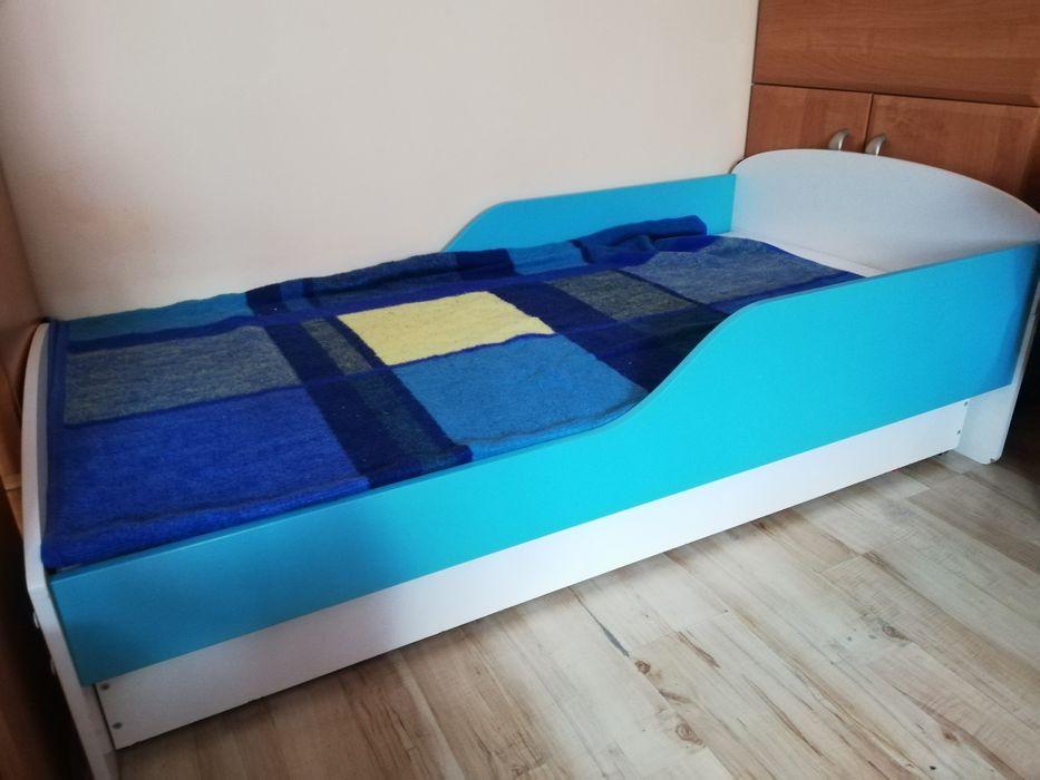 Łóżko dziecięce ( biało - niebieskie) Wałbrzych - image 1