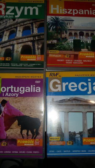 Filmy DVD Podróżnicze Europa Afryka USA 12 sztuk kolekcja + 2 gratisy