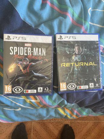 Vendo 2 jogos selados  novos ps5
