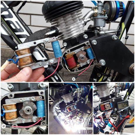 Световая катушка 12V для зажигания веломотор F80, дырчик, свет 12В.