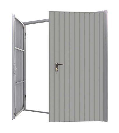 Drzwi Garażowe Brama Garażowa Dwuskrzydłowa Stalowa 240cmX215cm