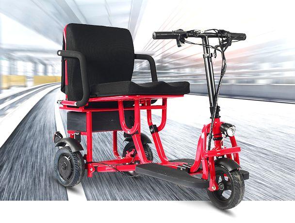 Скутер электрический. Складной. Для пожилых людей и инвалидов.